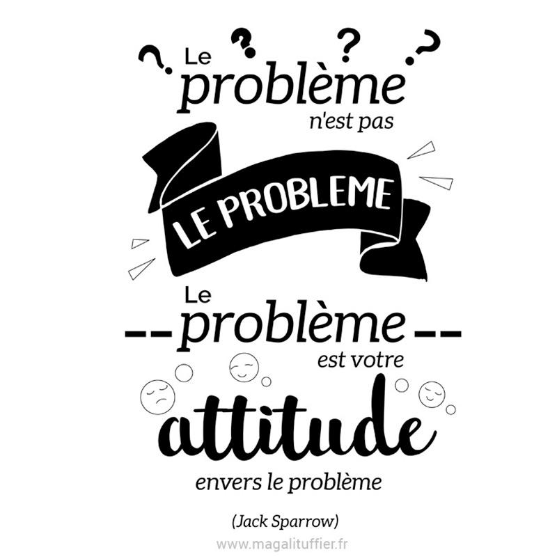 Le problème n'est pas le problème. Le problème est votre attitude envers le problème