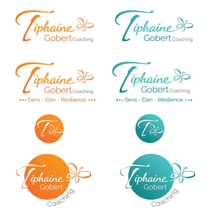Versions du logo de Tiphaine Gobert