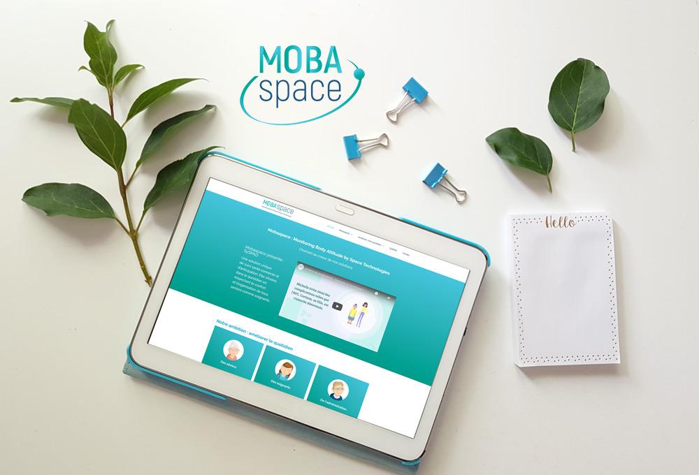 Identité et site web : Mobaspace, une nouvelle vision du suivi santé