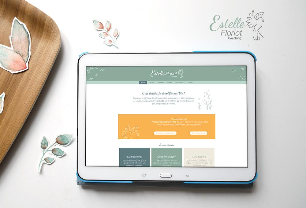 Identité et site web : Estelle Floriot - Simplifier