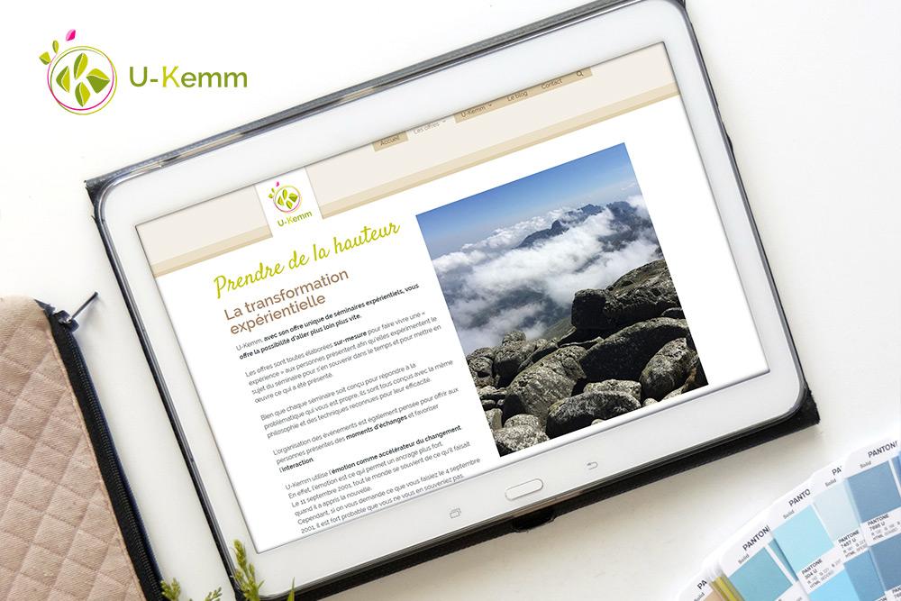 Identité et site web : U-Kemm, la force de l'expérientiel